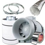 Kit Estrazione con Switch + Filtro Carboni 10cm - 190m3/ora + OMAGGIO!